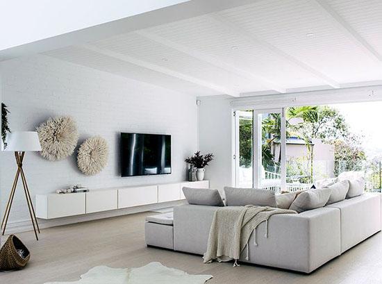 Lugano white designer TV cabinet by BoConcept