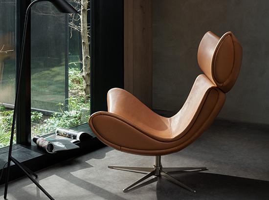 Imola tan armchair