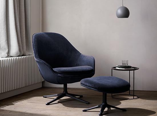 Adelaide Blue Velvet Armchair
