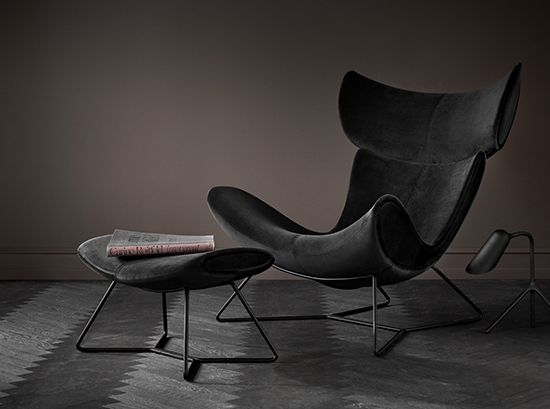 Imola Black Velvet Armchair
