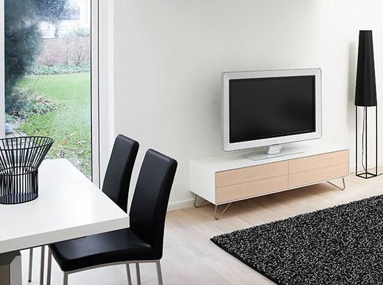 Fermo small white tv unit