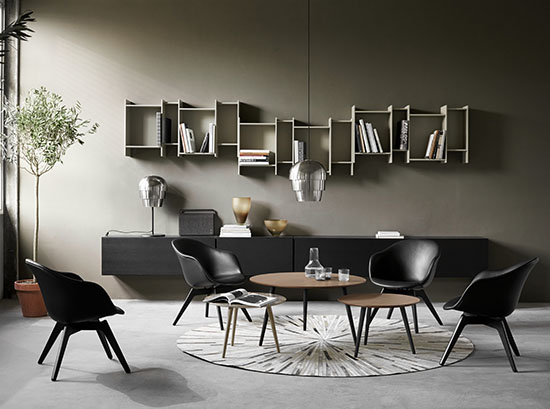 Bornholm modern wood coffee table
