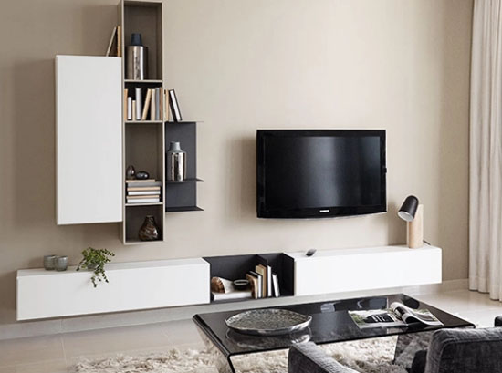 Lugano tv shelf
