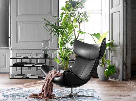 Imola Black Leather Armchair Sydney