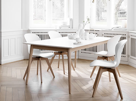 Adelaide white Scandinavian chairs