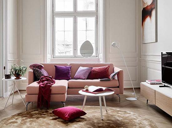 Osaka Pink L-Shape Couch