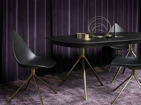 Ottawa black and gold dining chair sydney