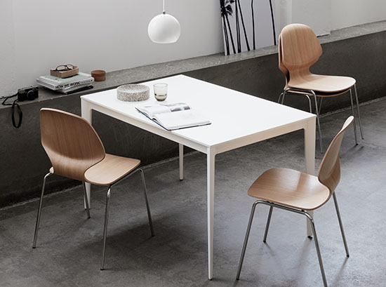 Torino white modern dining table
