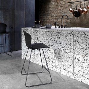 Adelaide modern bar stool - black