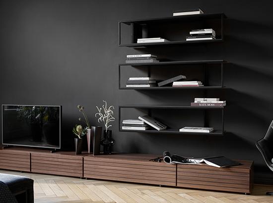 Bordeaux modern storage wall unit