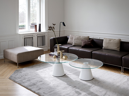 Madrid modern glass coffee table