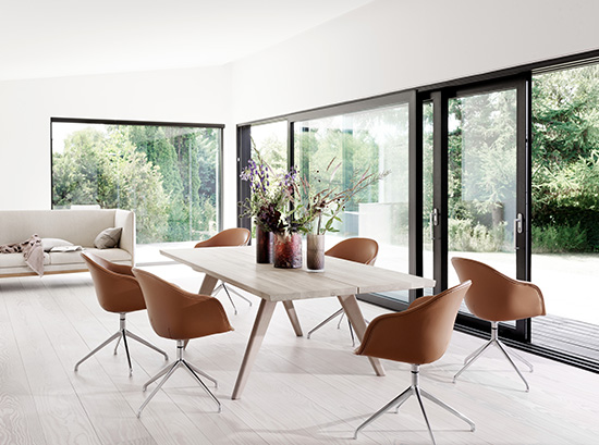Vancouver modern dining table - white