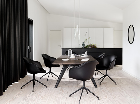 Vancouver modern black dining table