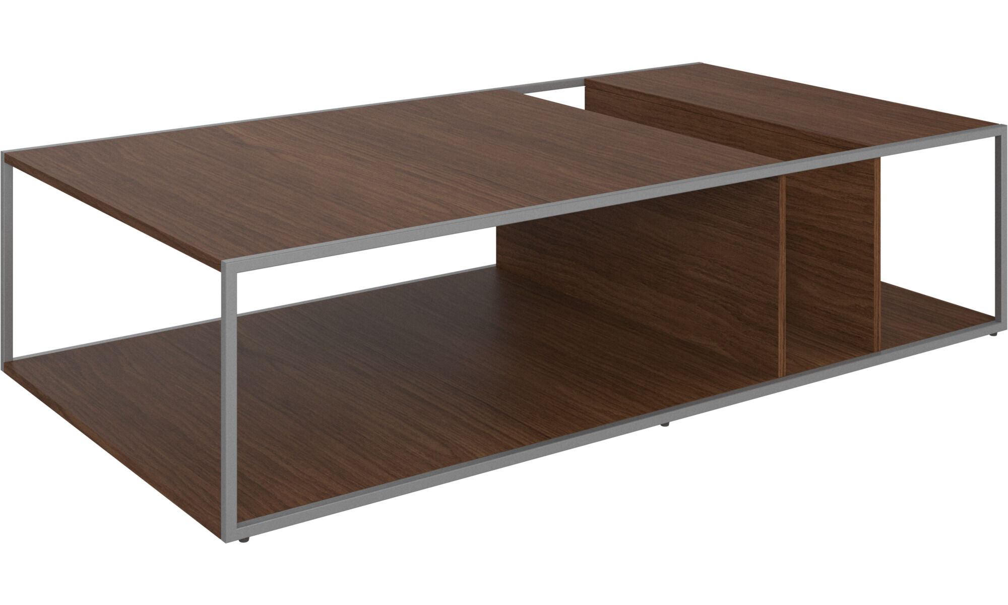 Philadelphia coffee table in walnut veneer