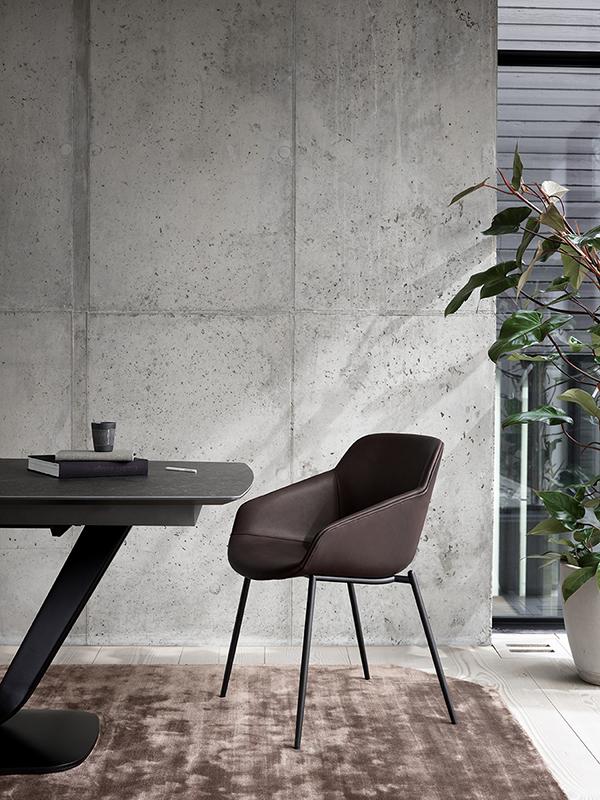 Vienna leather 4 leg chair sydney
