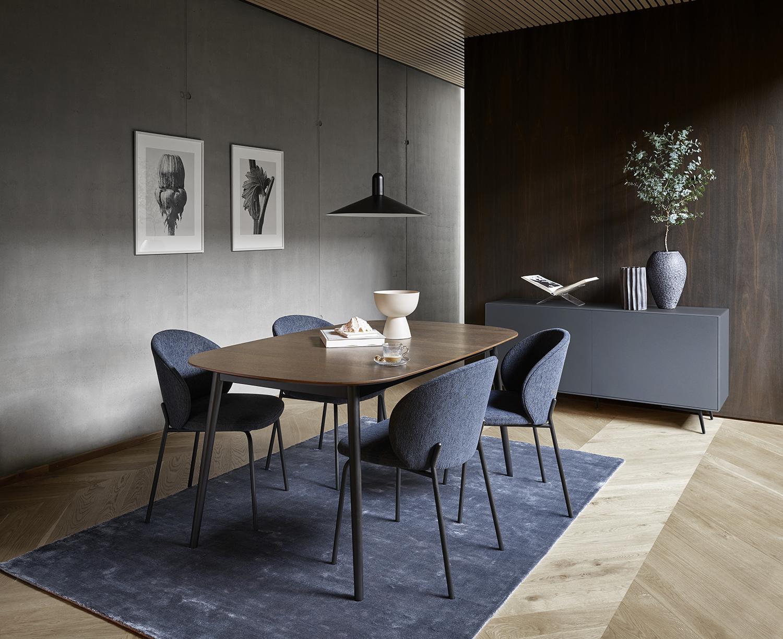 kingston extendable dining table in dark oak sydney