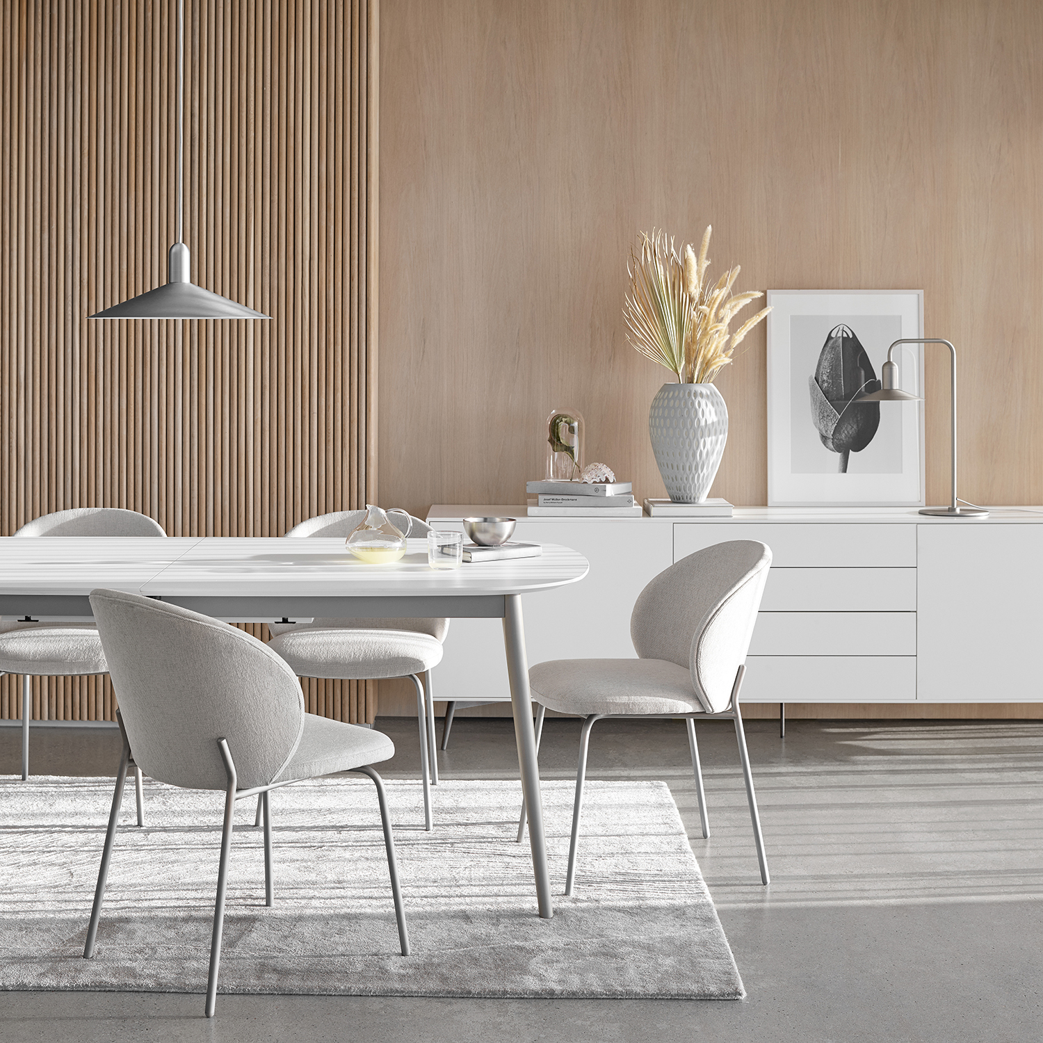 kingston dining table in white